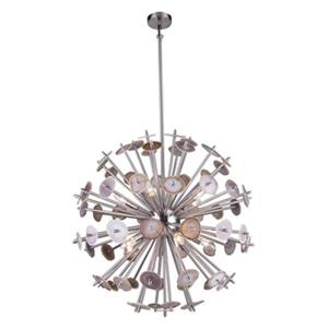 Design Living Shiny Nickel Spike Pendant Light