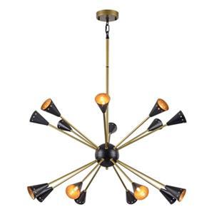 Design Living Matte Black Horn Chandelier