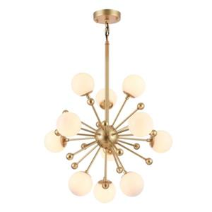 Bethel International White Glass Globe Chandelier