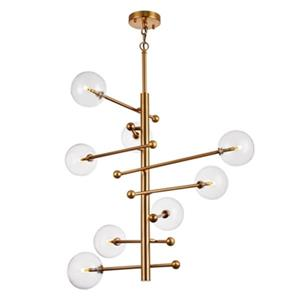 Bethel International Gold Globe Chandelier