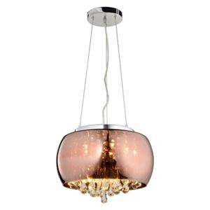 Design Living Copper and Crystal Chandelier