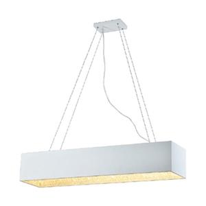 Bethel International White and Silver Rectangular Chandelier