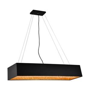 Design Living Black and Gold Rectangular Chandelier