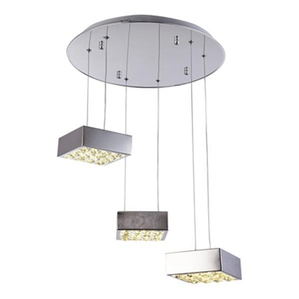 Design Living Chrome LED Multi Box Pendant Light