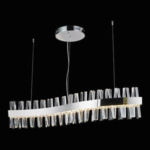 Design Living Chrome and Crystal Spike LED chandelier