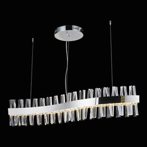 Design Living Chrome and Crystal Spike LED chandelier