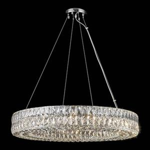 Design Living Chrome Crystal Ring Pendant Light