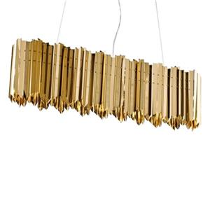 Bethel International Gold Spike LED chandelier