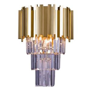 Design Living 3-Light Crystal Drop Wall Sconce
