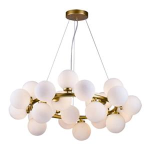 Bethel International Gold and Glass Globe LED Chandelier