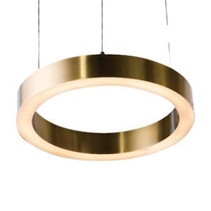 Design Living Antique Brass LED Ring Pendant Light