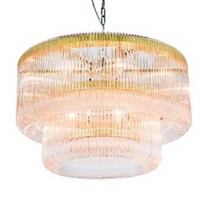 Design Living 2-Tier Gold Glass Chandelier