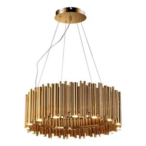 Design Living 27.5-in Gold LED Rod Chandelier