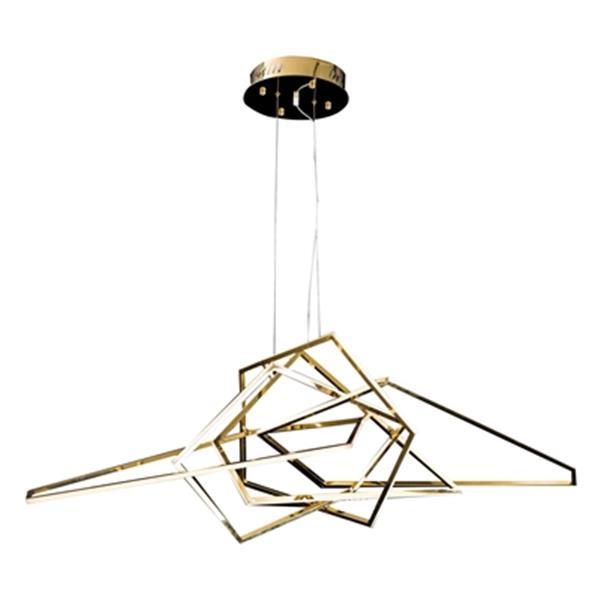 Design Living Gold LED Geometric Pendant Light