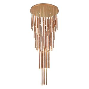 Bethel International Gold Rod Pendant Light