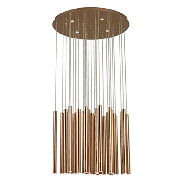 Design Living Gold Rod Pendant Light