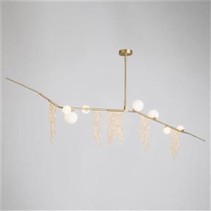 Design Living 4-in Gold Draping Chandelier