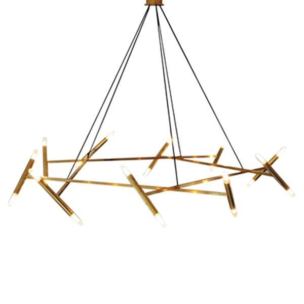 Design Living 31.4-in Gold Chandelier