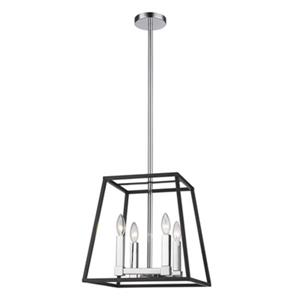 Design Living Black 14-in Cage Chandelier