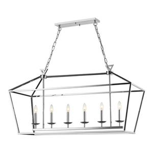 Design Living Shiny Nickel 15.75-in Cage Chandelier