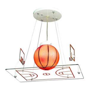 Design Living 15-in Chrome Basketball Pendant Light