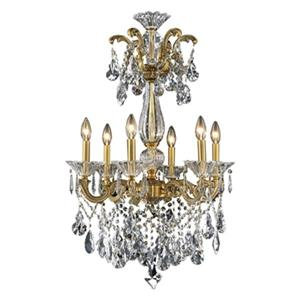 Bethel International 24-in Brass Crystal Chandelier