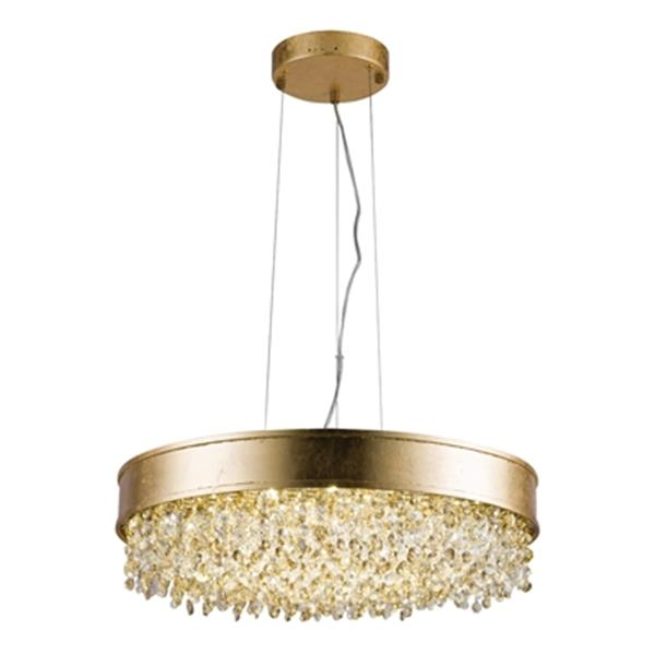 Design Living 23-in Champagne Round LED Chandelier