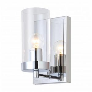Design Living 1-Light Glass Cylinder Wall Sconce