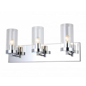 Design Living Glass 3-Light Glass Cylinder Wall Sconce