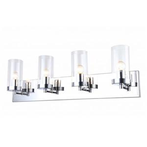 Design Living Glass 4-Light Glass Cylinder Wall Sconce