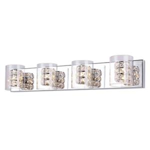 Design Living Glass 4-Light Glass Cycylinder Wall Sconce