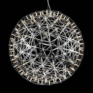 Bethel International MN Series Collection 37.4-in Chrome Star Globe LED Pendant Light