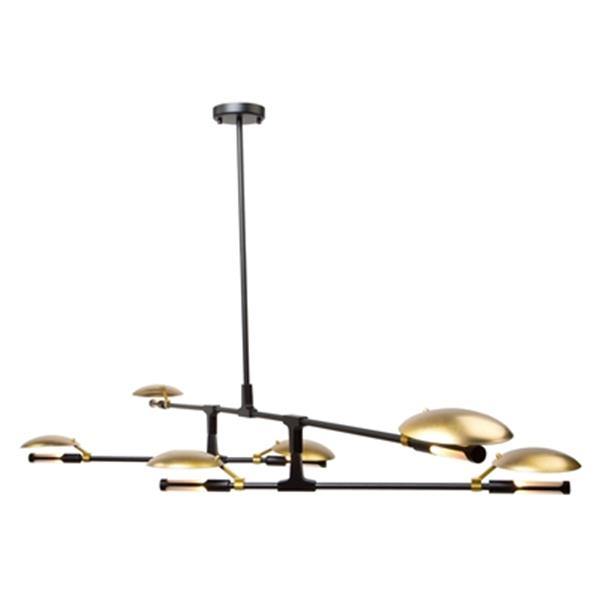 Artcraft Lighting Aventura 42-in Matte Black 6-Light Chandelier