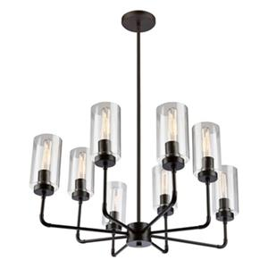 Artcraft Lighting Ray 8-Light Chandelier,SC13138OB