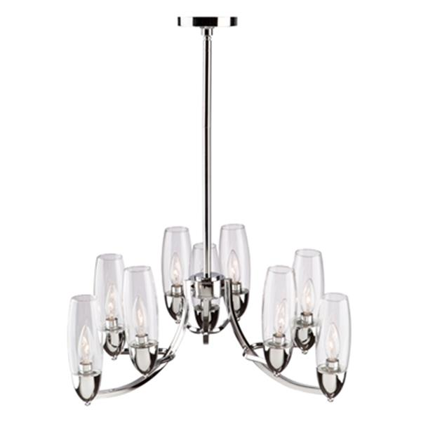 Artcraft Lighting Trilogy 24-in Chrome 9-Light Chandelier