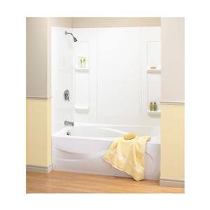 Elan 61 in. x 32 in. x 59 in. Polystyrene Tub Wall Kit