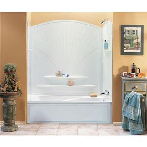 MAAX Decora 60 in. x 31 in. x 63 in. Polystyrene Tub Wall Kit