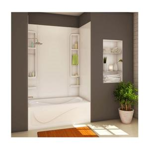 Finesse 61 in. x 34 in. x 80 in. Acrylic Tub Wall Kit