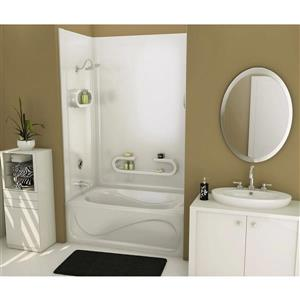 Parisienne 61 in. x 32 in. x 80 in. Acrylic Tub Wall Kit