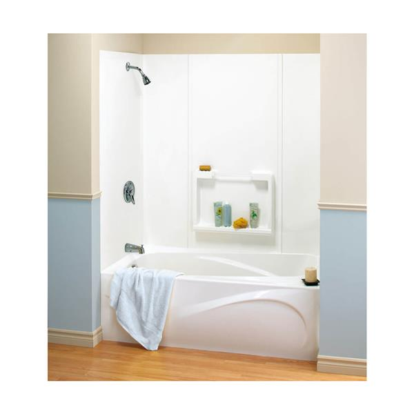 MAAX Suez 62 in. x 31 in. x 59 in. Polystyrene Tub Wall Kit