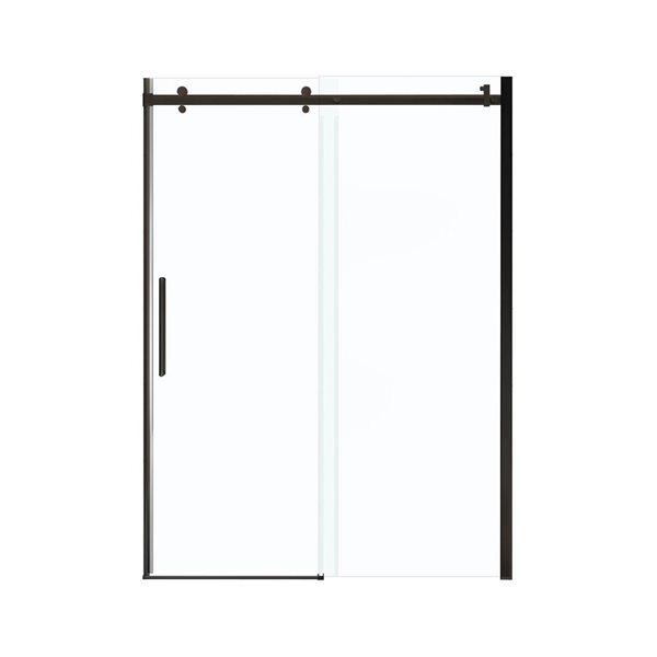 MAAX Halo 57-59-in x 79-in Dark Bronze Clear Shower Door