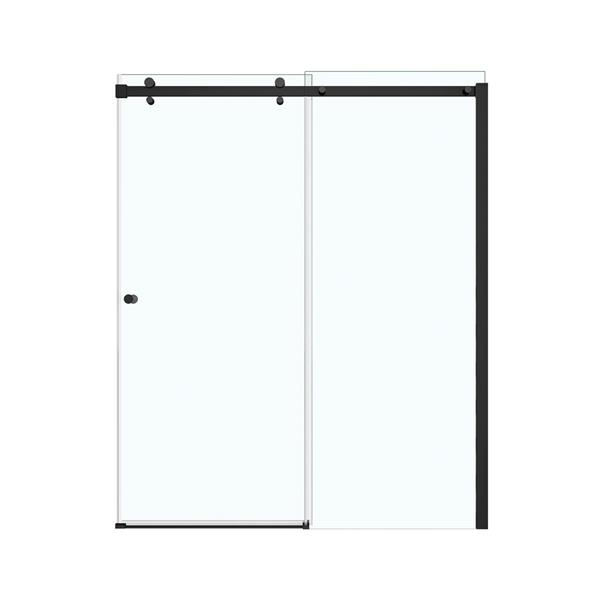 Maax Luminescence Clear 59-in x 71-in Dark Bronze Shower Door
