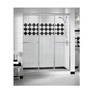 MAAX TriplePlus 51-53-in x 66-in Shower Door in Polished Chrome/Clear