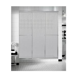 MAAX TriplePlus 41-43-in x 66-in Shower Door in Polished Chrome/Raindrop