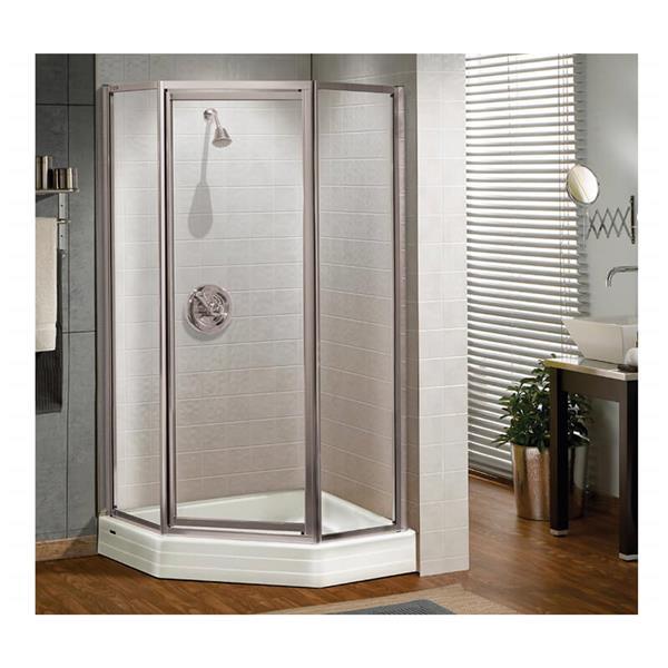 Silhouette NA 38 x 70 po porte de douche en chrome clair