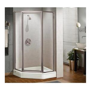 MAAX Silhouette NA 38-in x 70-in Shower Door in Polished Chrome/Clear
