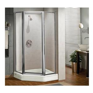 MAAX Silhouette P NA 36-in x 70-in Shower Door in Polished Chrome/Clear