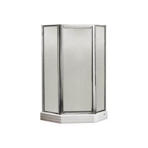MAAX Silhouette P NA 36-in x 70-in Shower Door in Polished Chrome/Hammer