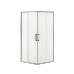 MAAX Radia Square 36-in x 72-in Nickel Mistelite Shower Door
