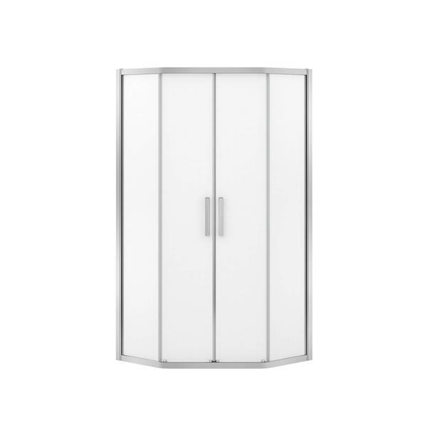 MAAX Radia Neo-Angle 40-in x 72-in Chrome Mistelite Shower Door